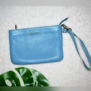 Cole Haan Blue Leather Wristlet
